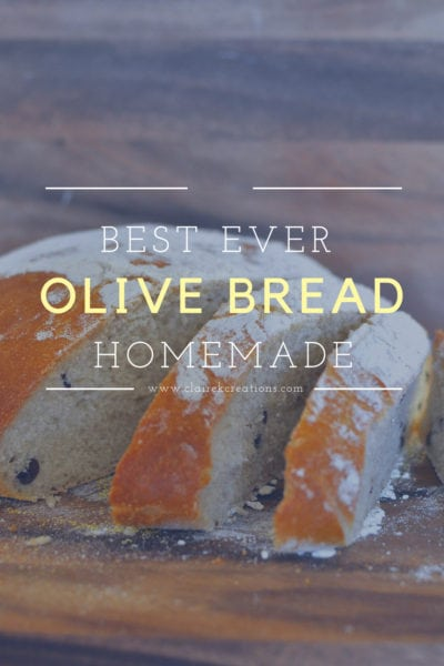 Olive bread the best bread I've ever made www.clairekcreations.com