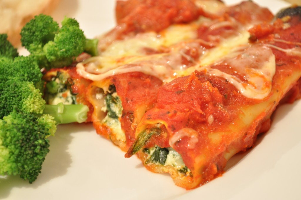 spinach and ricotta cannelloni claire k creations