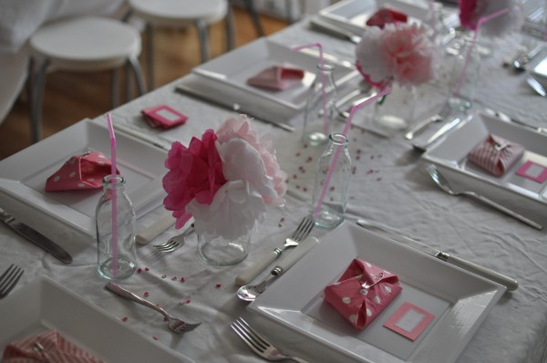 baby shower table settings