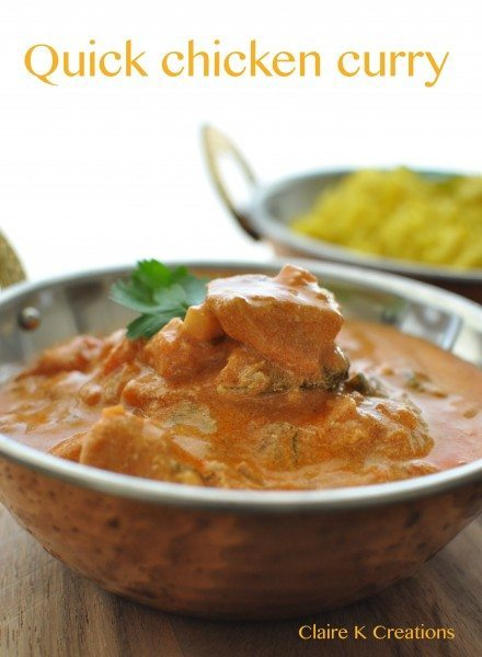 Quick chicken curry - Claire K Creations