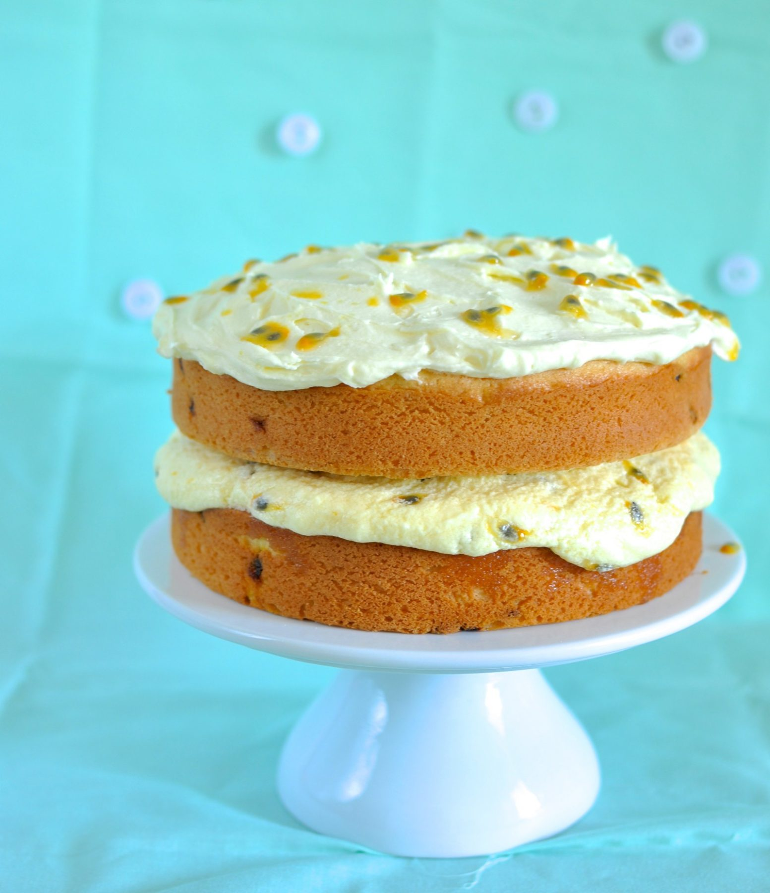 Coconut passionfruit cake - Claire K Creations