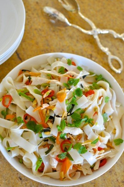 Thai chicken noodle salad
