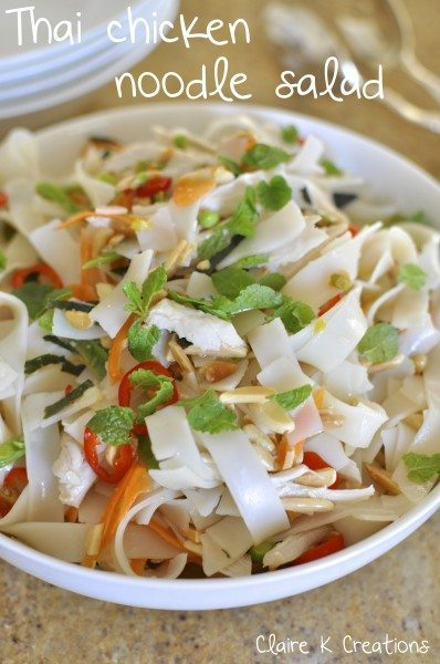 Thai chicken noodle salad - Claire K Creations