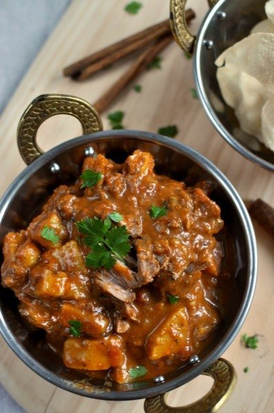 Slow cooked Indian beef curry
