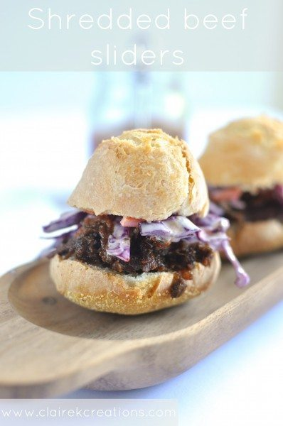 Shredded beef sliders - Claire K Creations