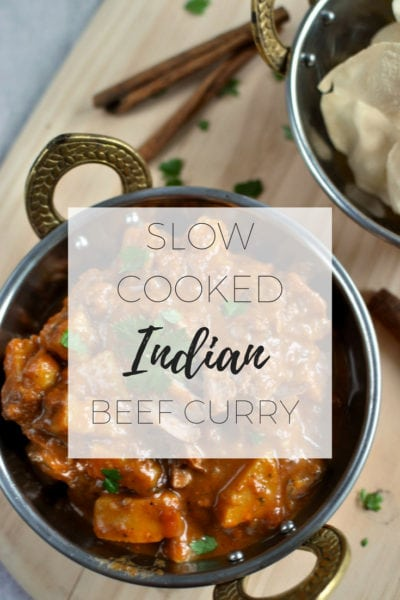 Slow cooked Indian beef curry recipe via www.clairekcreations.com
