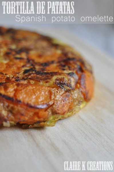 Spanish tortilla with sweet potato - Claire K Creations