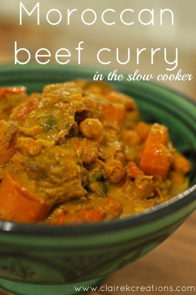 Moroccan beef curry