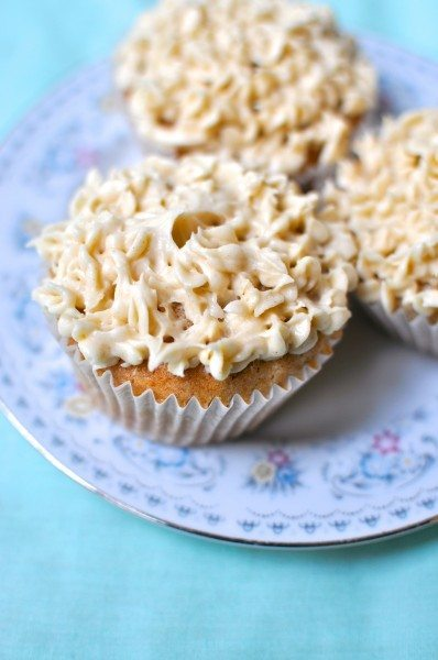 Banana cupcakes with honey cinnamon icing - Claire K Creations