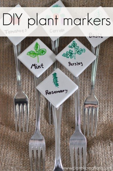 DIY plant markers - Claire K Creations