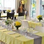 My grey and yellow baby shower