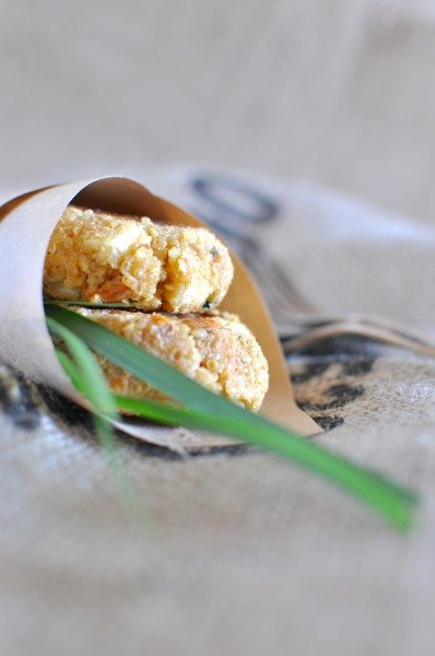 Pumpkin and quinoa fritters with feta - Claire K Creations