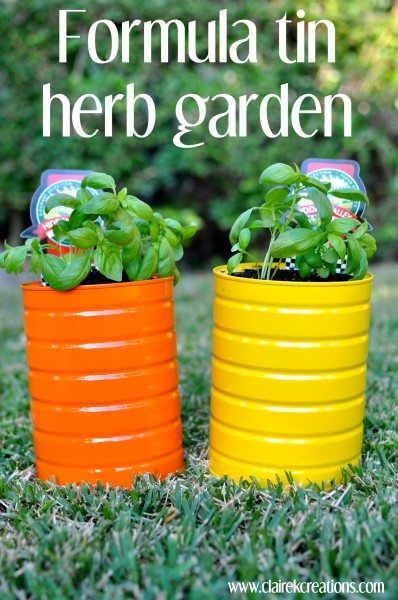 How to make a herb garden from formula tins