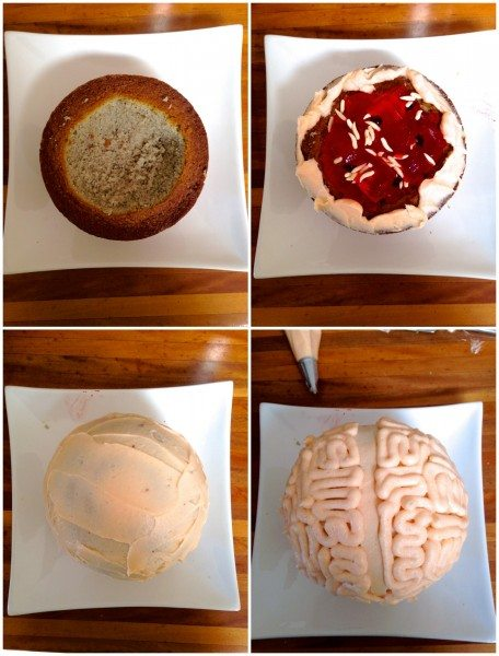 How to make a brain piñata cake via www.clairekcreations.com