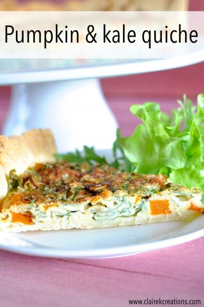 that rut though and last week, made a new quiche – pumpkin and kale ...