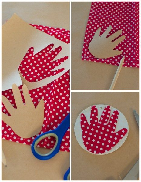 Baby's first Christmas handprint ornaments via www.clairekcreations.com