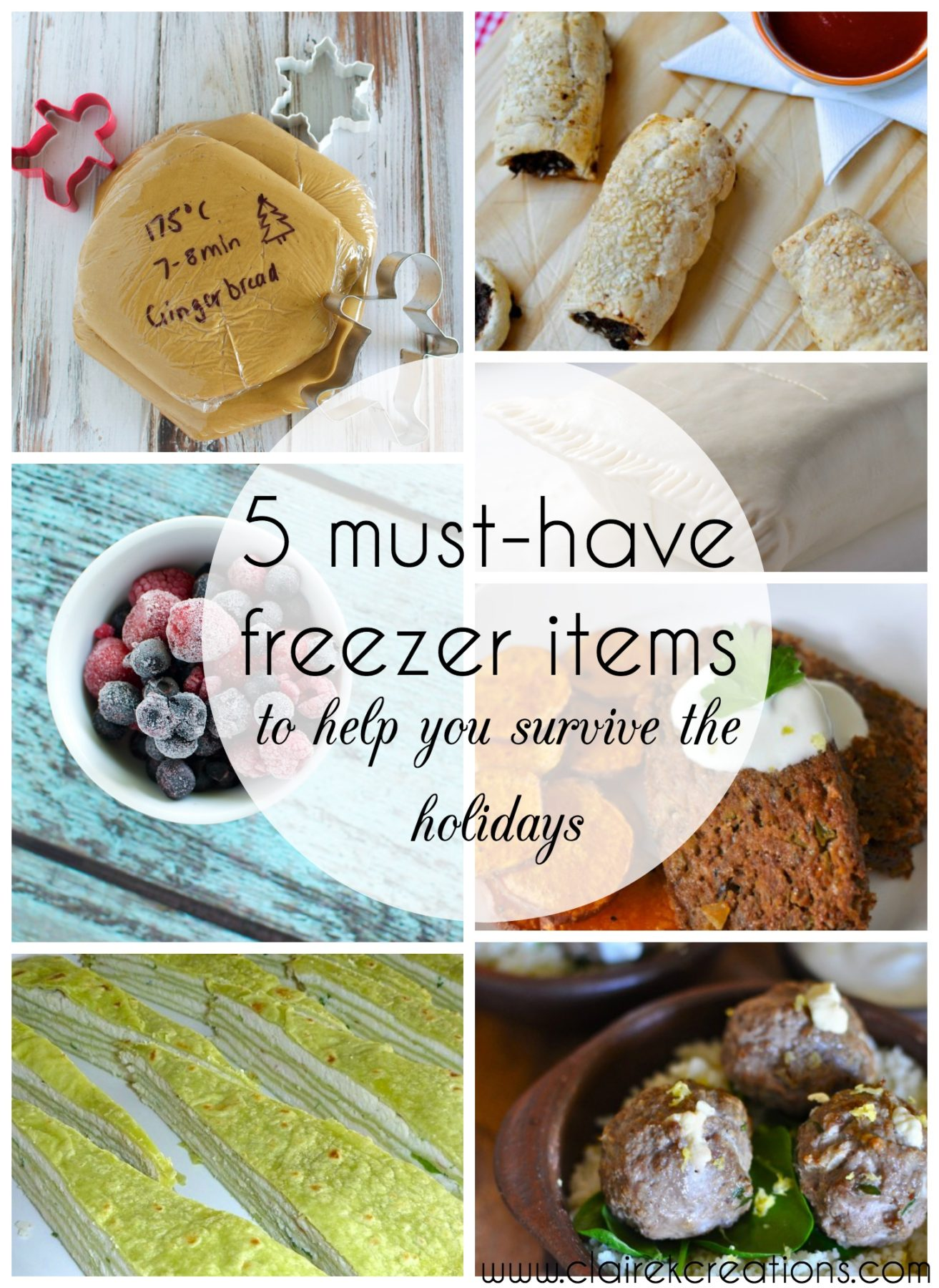 5 must have freezer items to help you survive the holidays via ww.clairekcreations.com