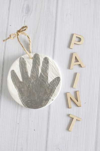Painted hand ornament via www.clairekcreations.com