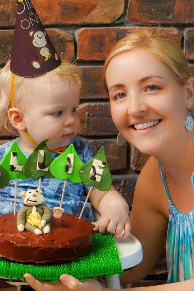 Kid Friendly Banana Cake With Chocolate Icing Claire K