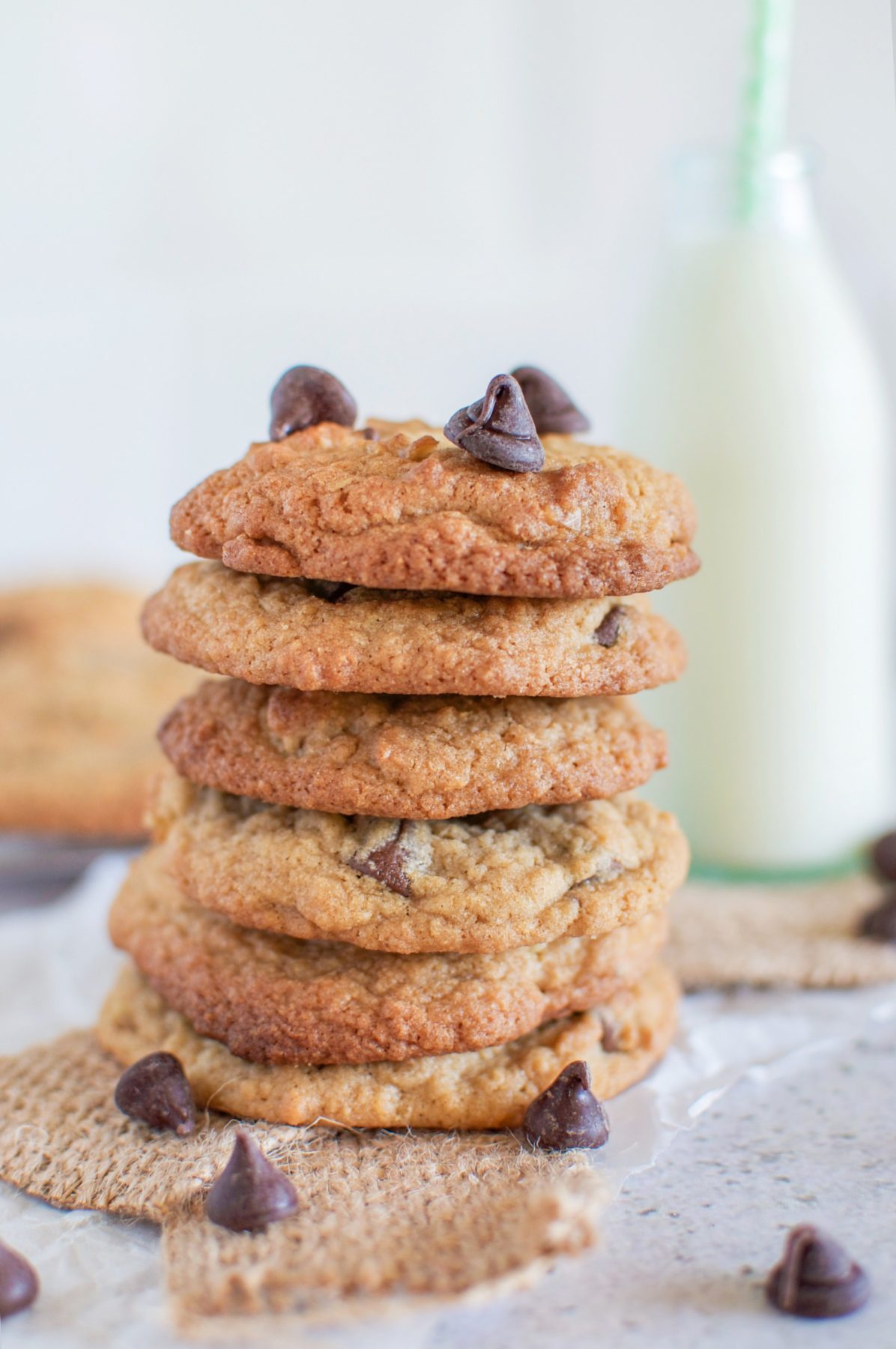 Chewy Chocolate Chip Cookies Claire K Creations Via