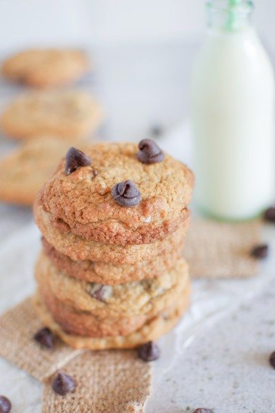 Chewy chocolate chip cookies via www.clairekcreations.com