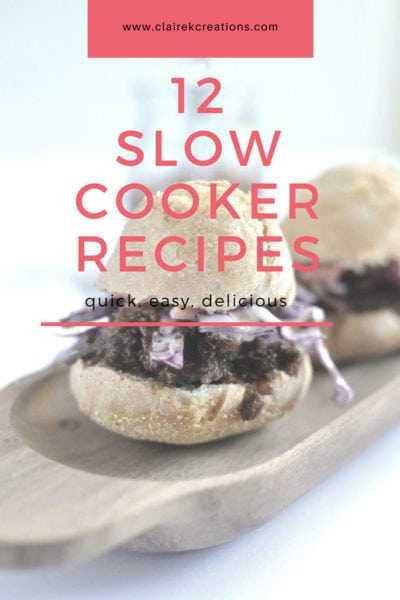 12 winter slow cooker recipes via www.clairekcreations.com
