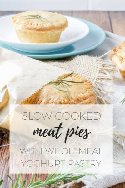 Slow cooked meat pies with wholemeal yoghurt pastry via www.clairekcreations.com