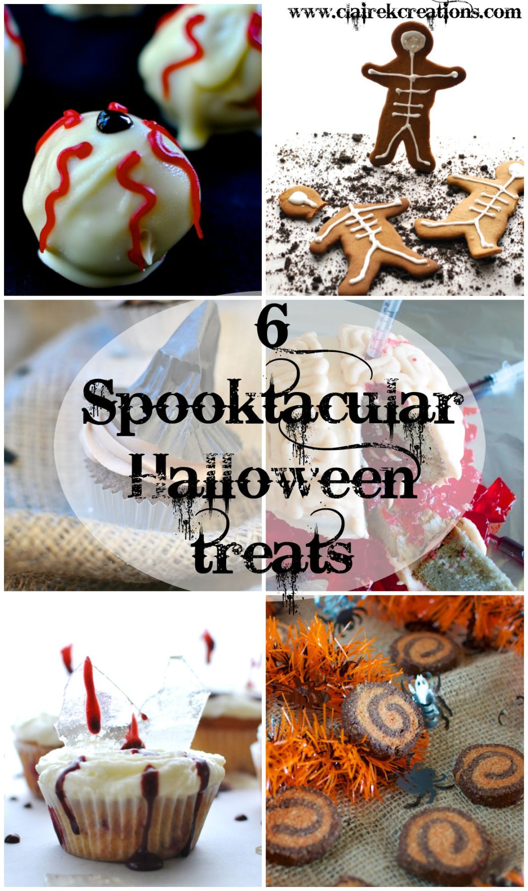 6 spooktacular Halloween treats via www.clairekcreations.com