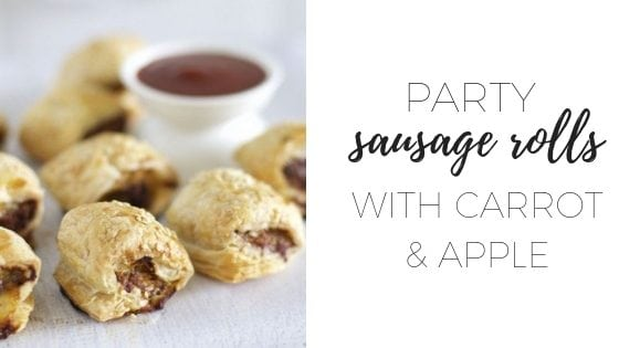 Party sausage rolls with carrot and apple (1)