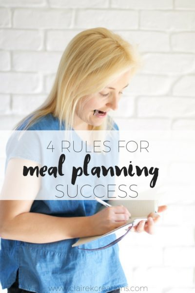 Four rules for meal planning success pin