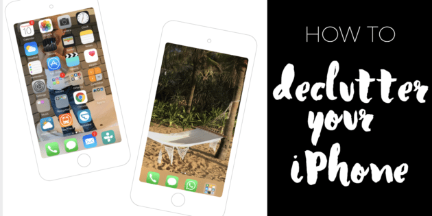 How to declutter your iPhone via www.clairekcreations.com