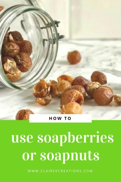 how to use soapberries or soapnuts in place of laundry detergent