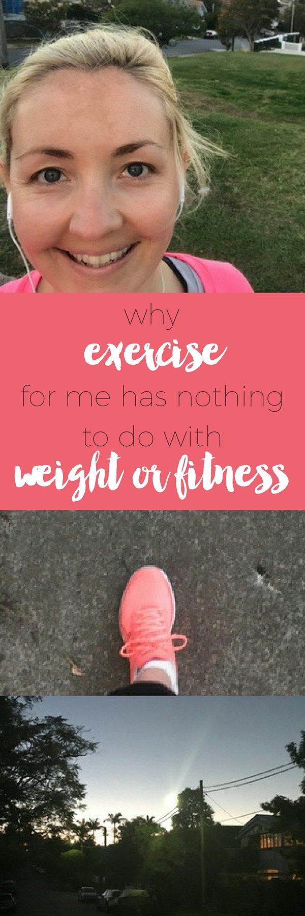 Why exercise for me has nothing to do with weight or fitness via www.clairekcreations.com anxiety mindfulness stress