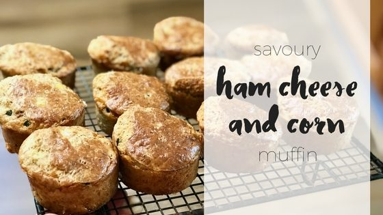 Savoury ham cheese and corn muffins via www.clairekcreations.com