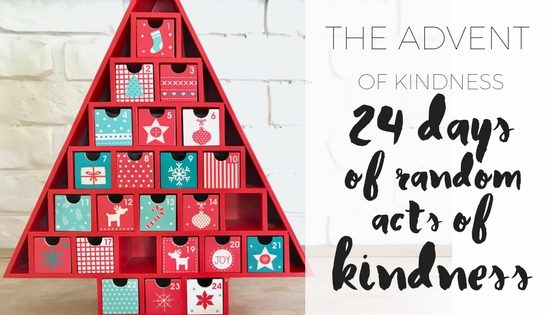 The Advent of Kindness via http://www.clairekcreations.com