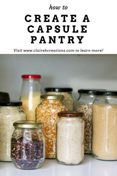 How to create a capsule pantry 1