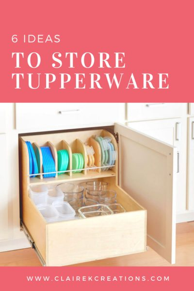 6 ideas to store tupperware 3