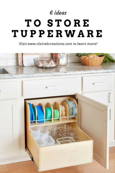 6 ideas to store tupperware 4