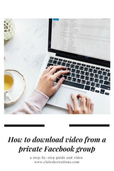 How to download video from a private facebook group