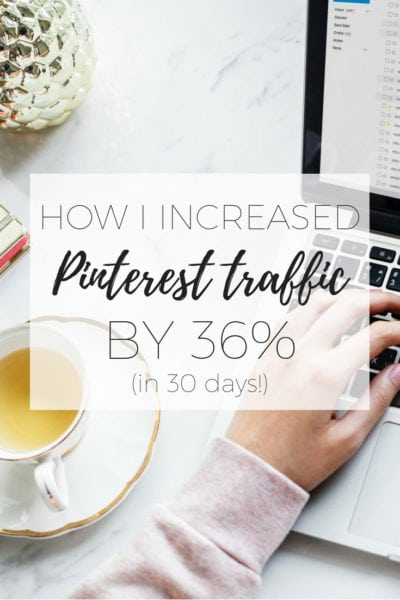 How to increase traffic from Pinterest - how I increased my Pinterest traffic by 36% in 30 days in less than an hour a week via www.clairekcreations.com