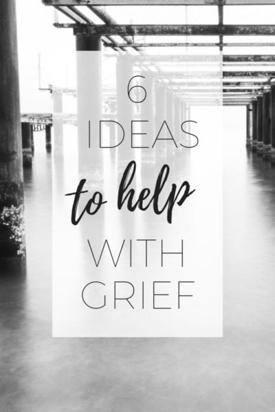 6 ideas to help with grief via www.clairekcreations.com