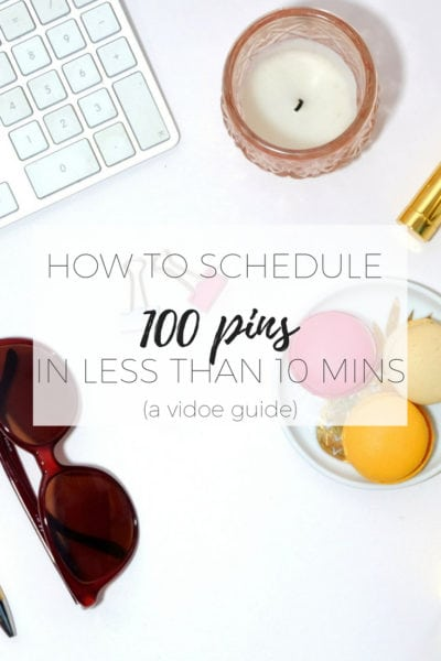 How to schedule 100 pins in less than 10 minutes