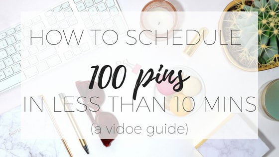Pinterest can be a great source of traffic to your website but scheduling posts can be time consuming. In this post I'm going to show you how to schedule 100 pins in less than 10 minutes.
