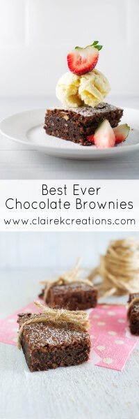 Best Ever Chocolate Brownie via www.clairekcreations.com