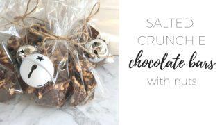 Salted Crunchie Nut Bars - by Nigella