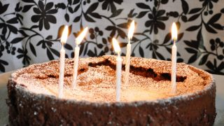 Flourless chocolate lime cake - Happy Birthday to me!