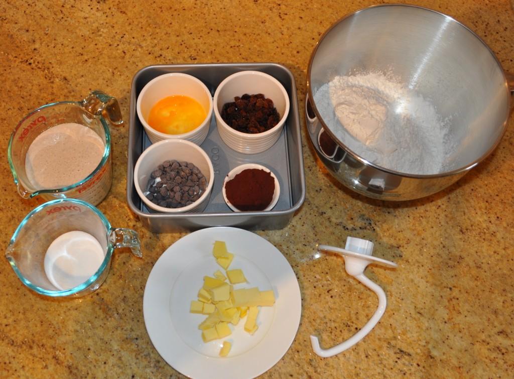 Checkerboard hot cross bun ingredients