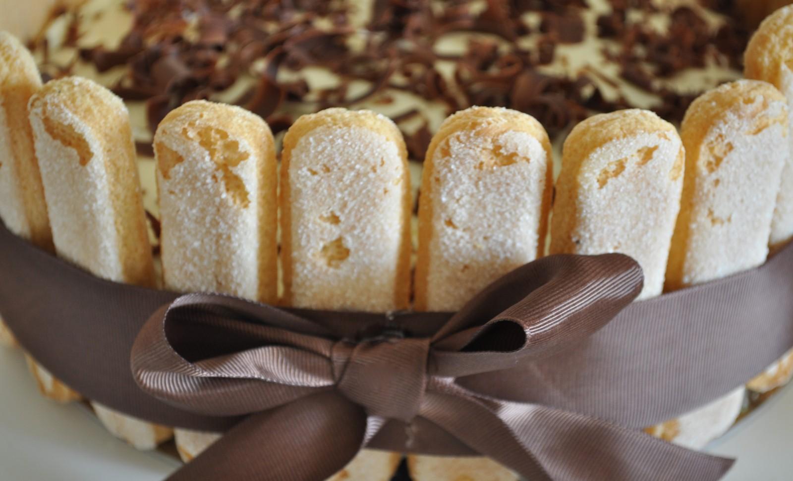 Tiramisu inspired Birthday cake