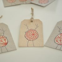DIY Reinbird Christmas gift tags