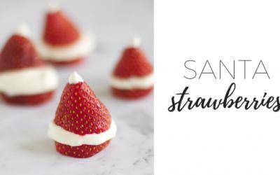Santa strawberries – it's beginning to look a lot like Christmas!